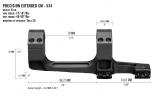Precizní taktická montáž Vortex Cantilever 34 mm 0 Moa