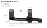 Precizní taktická montáž Vortex Cantilever 34 mm 20 Moa