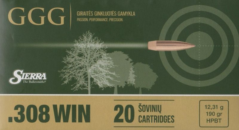 GGG 308WIN 190grn Sierra MatchKing