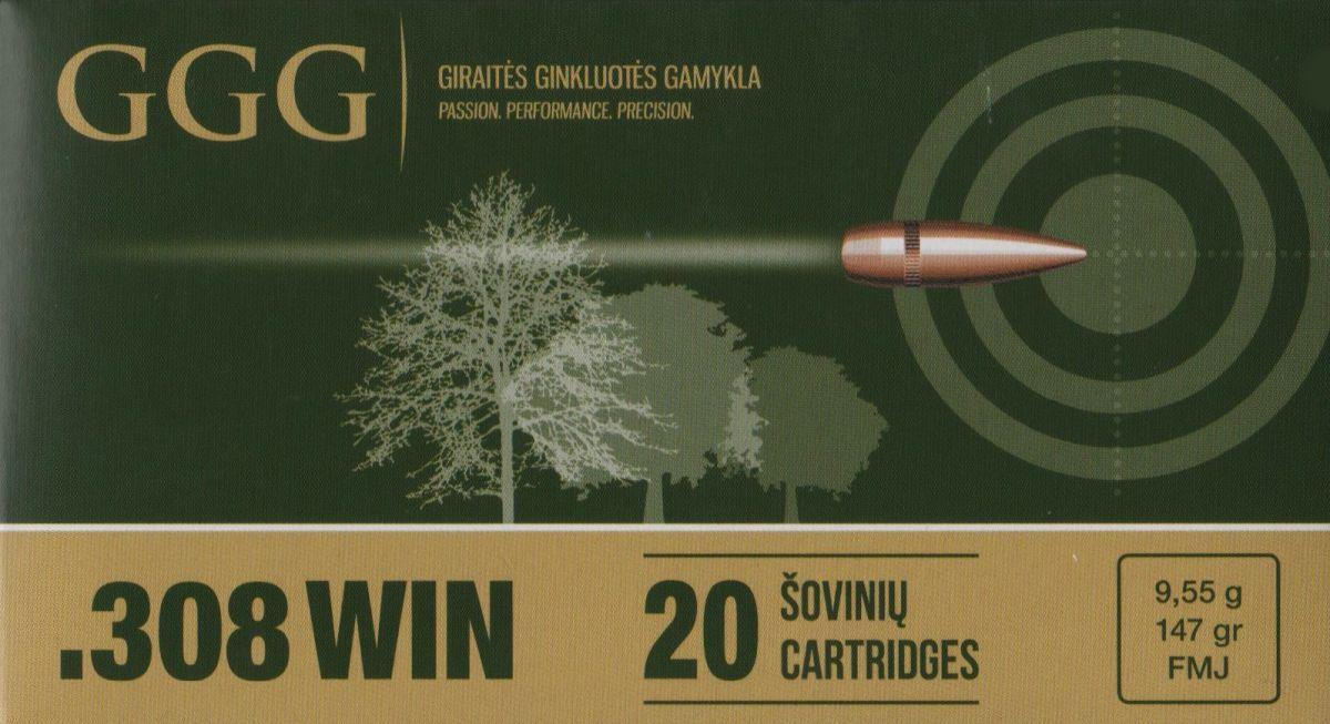 GGG 308 WIN - 147grn FMJ
