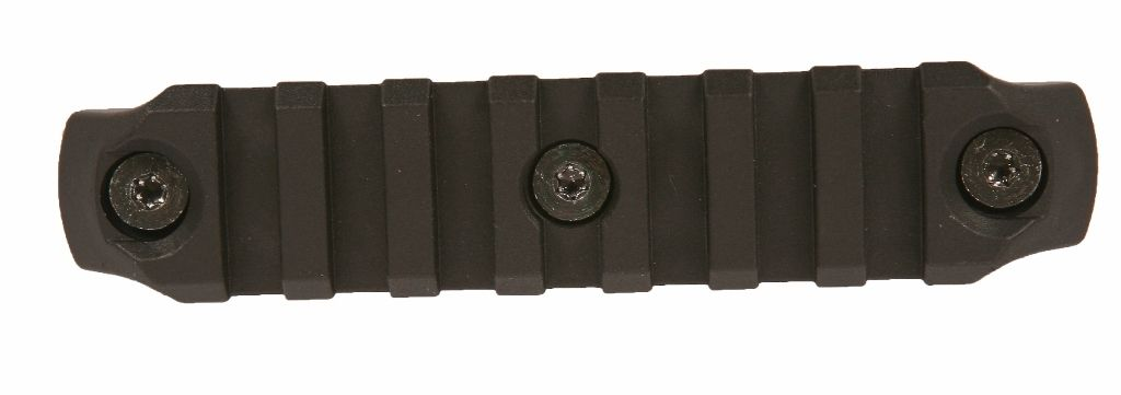 "Picatinny lišta nylonová BCM GUNFIGHTER na KeyMod 4"" - černá Bravo Company"
