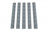 BCMGUNFIGHTER™ KeyMod Rail Panel Kit, 5.5-inch - Wolf Gray (5 pack)