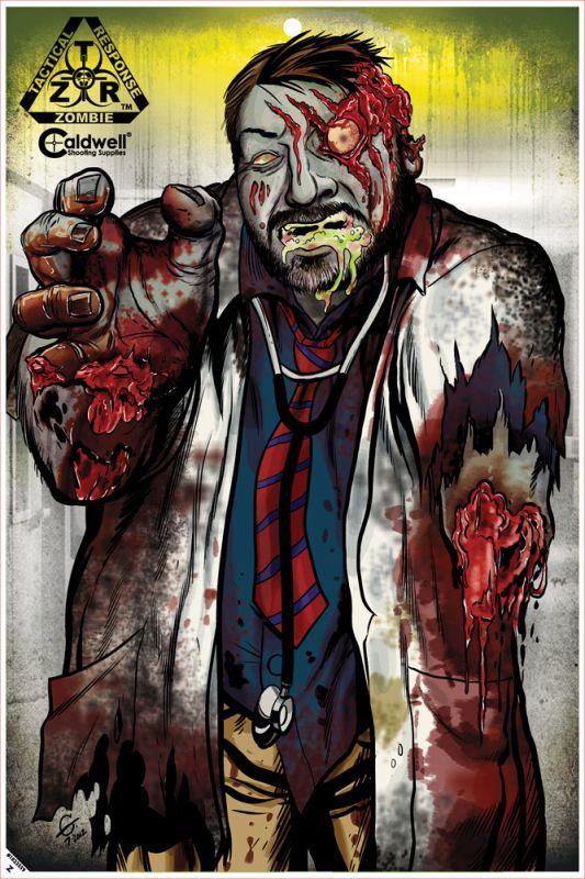"Reflexní terče - Terče Zombie - Z.T.R. Flake Off Targets 12x18"" 10 ks od firmy Caldwell"