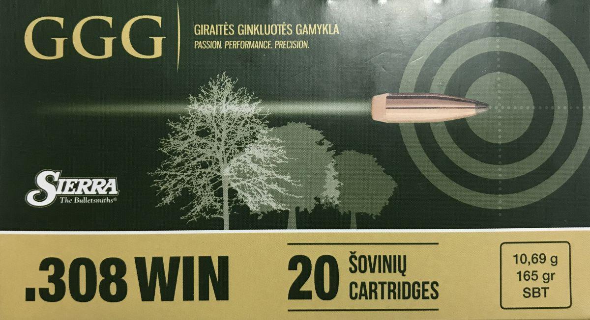 GGG náboj .308 WIN - SBT 165grn GGG