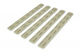 "BCMGUNFIGHTER™ M-LOK Rail Panel Kit, 5.5"" - Flat Dark Earth (5 pack)"