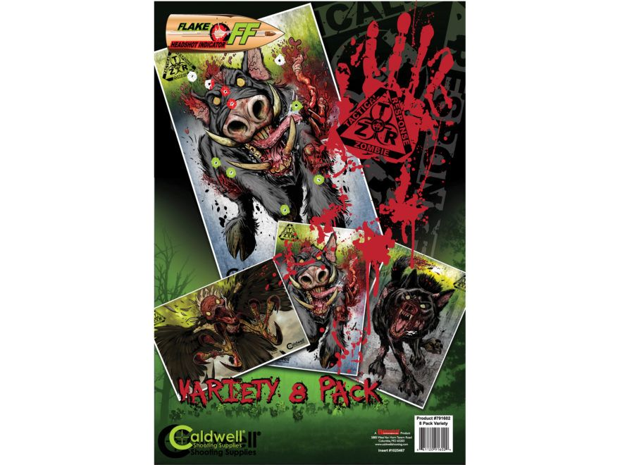 Caldwell® Z.T.R. Flake Off Targets Zombie animals 8pcs