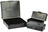 Krabička na 50 nábojů (25-06Rem, 7x57Mauser, 280Rem, 8x57Mauser) - šedá