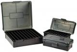 Krabička na 50 nábojů (9mm, .23/.32 ACP, .38 S&W) - šedá