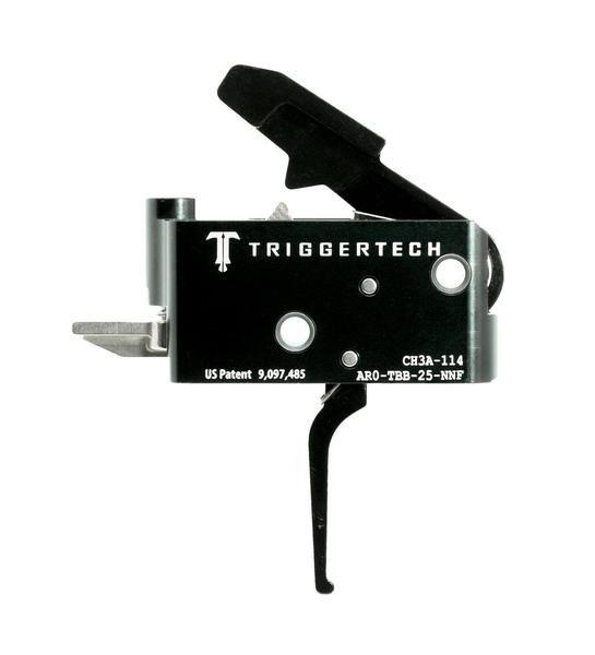AR0-TBB-25-NNF   TriggerTech AR15 Adaptable Straight Black