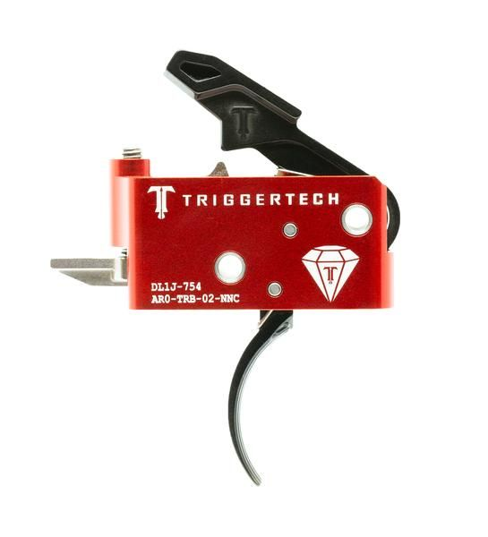 AR0-TRB-14-NNC   TriggerTech AR15 Diamond Curved Black