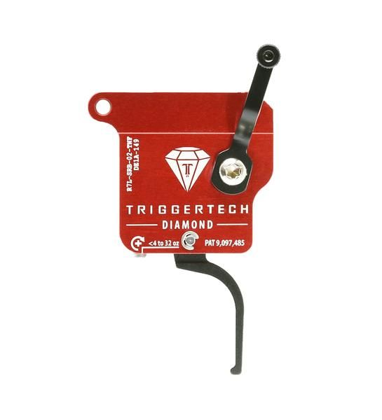 R7L-SRB-02-TNF   TriggerTech Rem700 Diamond Straight Black, Left