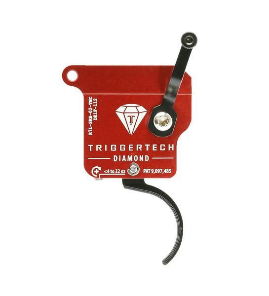 R7L-SRB-02-TNC   TriggerTech Rem700 Diamond Curved Black, Left
