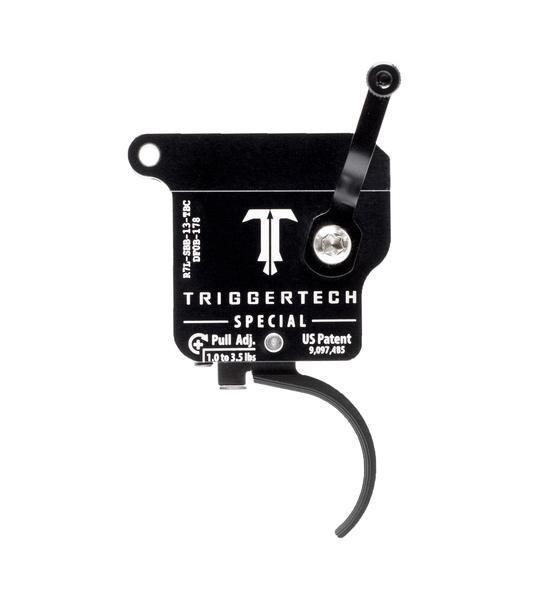 R7L-SBB-13-TBC   TriggerTech Rem700 Special Curved Black, Left