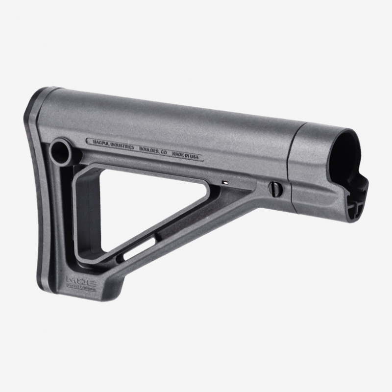 MAG480-GRY   MOE® Fixed Carbine Stock – Mil-Spec (GRY)