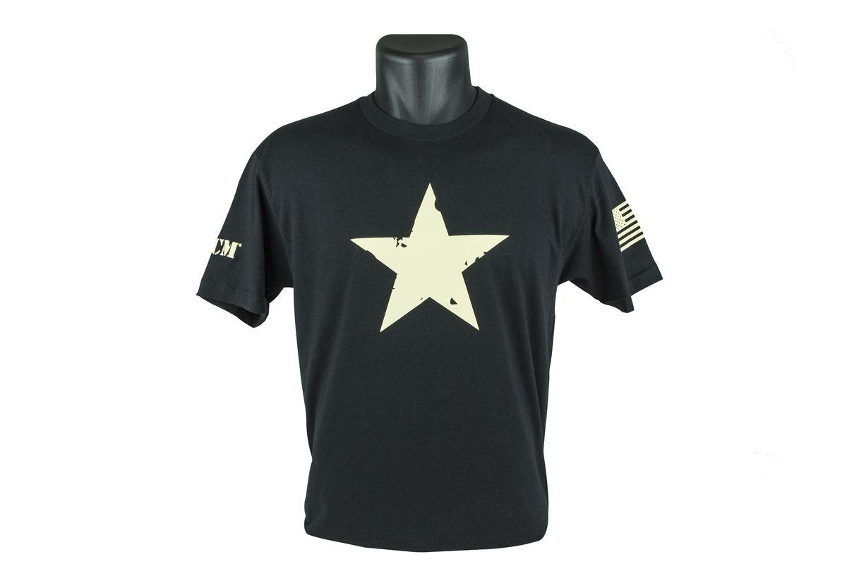 BCM-TSS-STAR-BLACK-XL   STAR T-Shirt, Short Sleeve (Black) - size XL