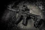 """SB SBA3™ - pažba pro """"AR pistole"""" včetně bufer tube - černá"""