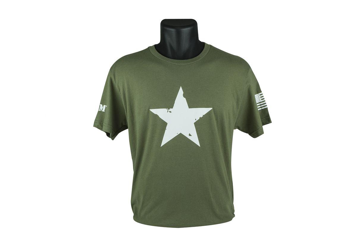 Tričko BCM STAR - krátký rukáv, zelené, velikost M