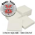 BoreTech Bavlněné čtvercové vytěráky X-Count .50 / 20GA - 10GA (500 ks)
