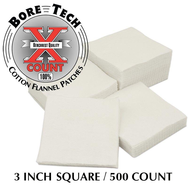 Bavlněné vytěráky X-Count pro brokovnice čtvercové (500ks)