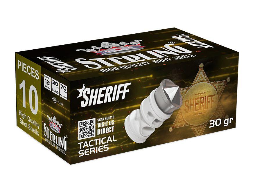 Náboj brokový Sterling SHERIFF 12/70, 30 gr