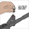 Pomůcka pro nastavení mušky AR-15