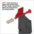 """Pomůcka k instalaci vymezovače """"pivot pin"""""""