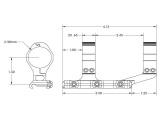 """Aero Precision Prodloužená předsazená odlehčená montáž puškohledu – 30 mm tubus, předsazení 2.875"""", černý elox"""