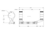 """Aero Precision Standardní předsazená odlehčená montáž puškohledu – 30 mm tubus, předsazení 2.375"""", FDE Cerakote"""
