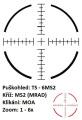 US Optics TS-6x - 1-6x24 mm, tubus 30 mm, FFP, MS2 (MRAD)