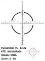 US Optics TS-8x - 1-8x24 mm, tubus 30 mm, FFP, JNG MIL (MRAD)