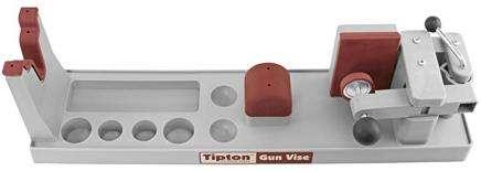 Podstavec pro opěru zbraně při čištění a úpravách od firmy Frankford Arsenal Tipton