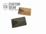 Custom Gear odznak (patch) - česká vlajka