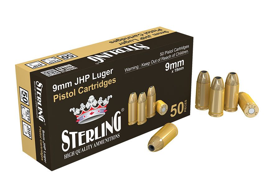 Náboj s řízenou deformací Sterling 9 mm Luger JHP 124 gr