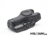 Pistolový laserový mini zaměřovač Holosun LS111R - červený