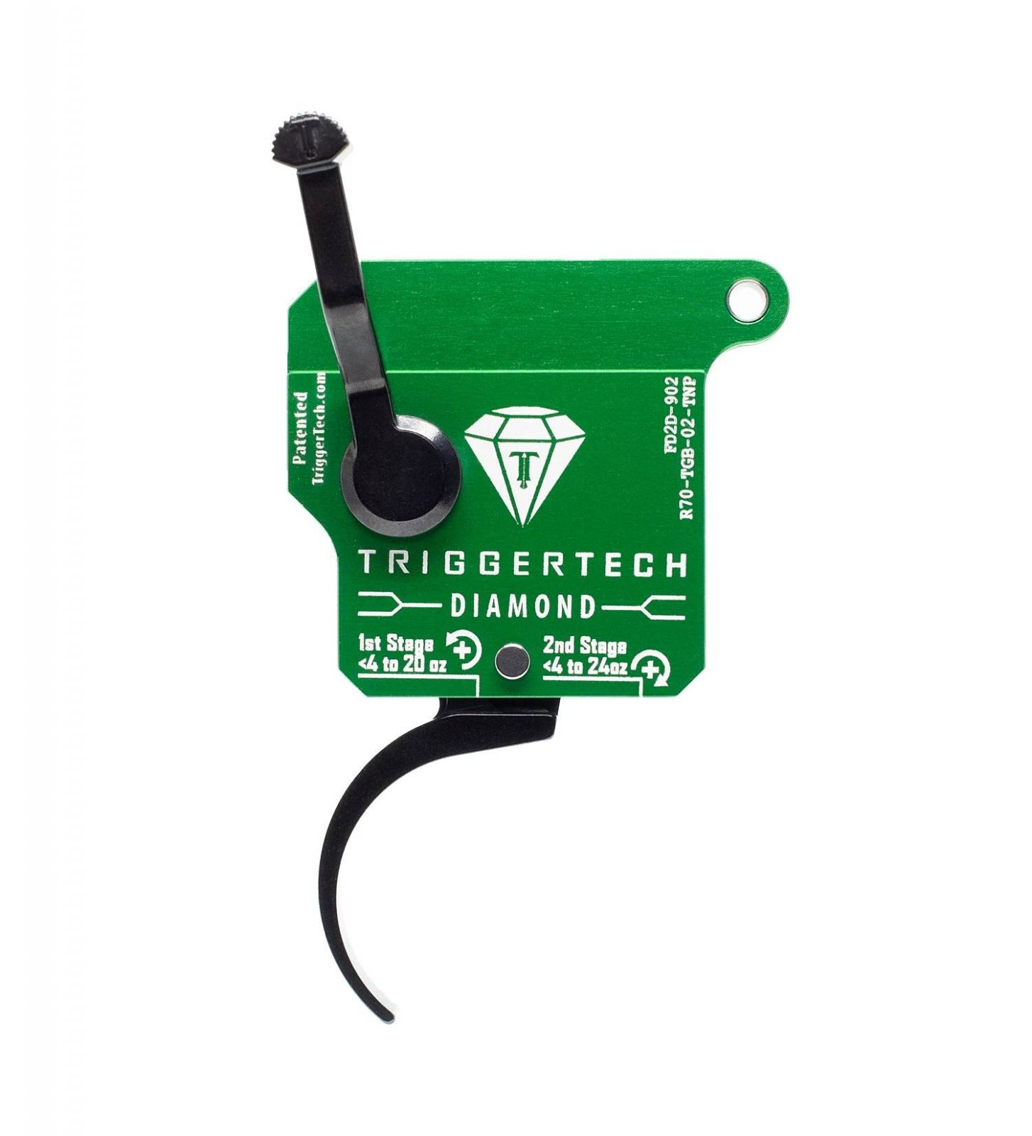 Spoušť Triggertech 2-stage Diamond pro Remington klony - zaoblená PRO, černá