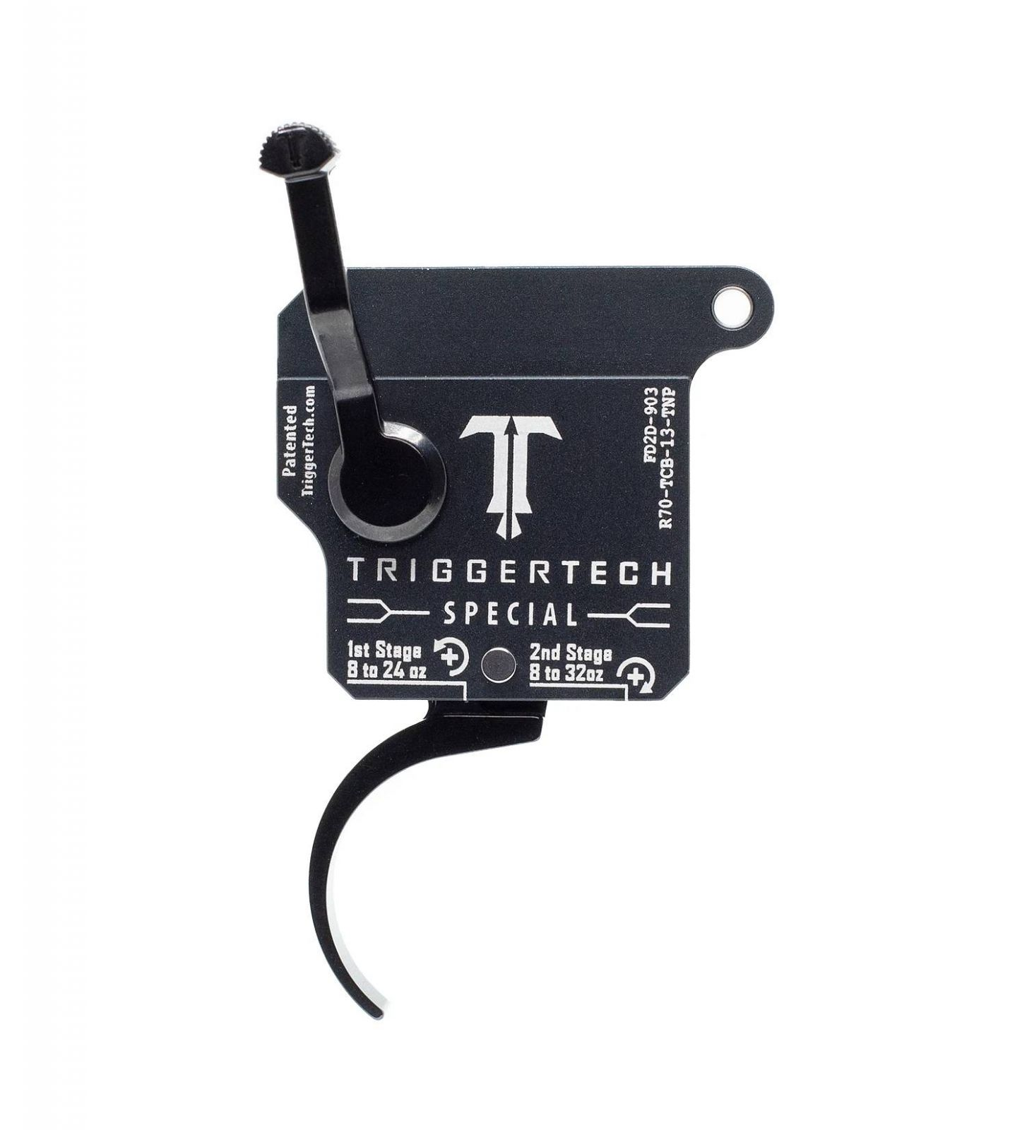 Spoušť Triggertech 2-stage Special pro Remington klony - zaoblená PRO, černá