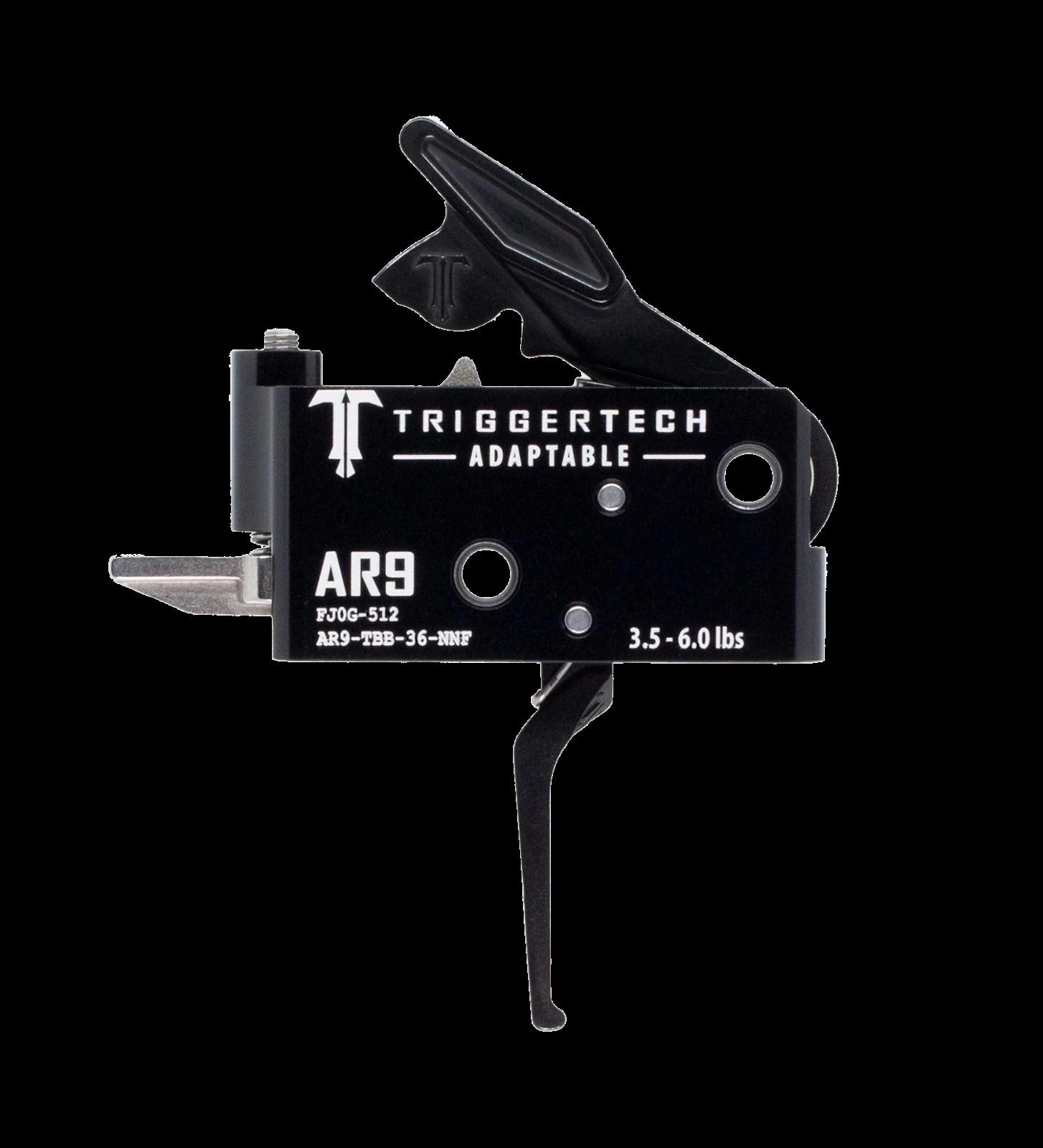 Spoušť TriggerTech AR9 Adaptable - rovná, černá
