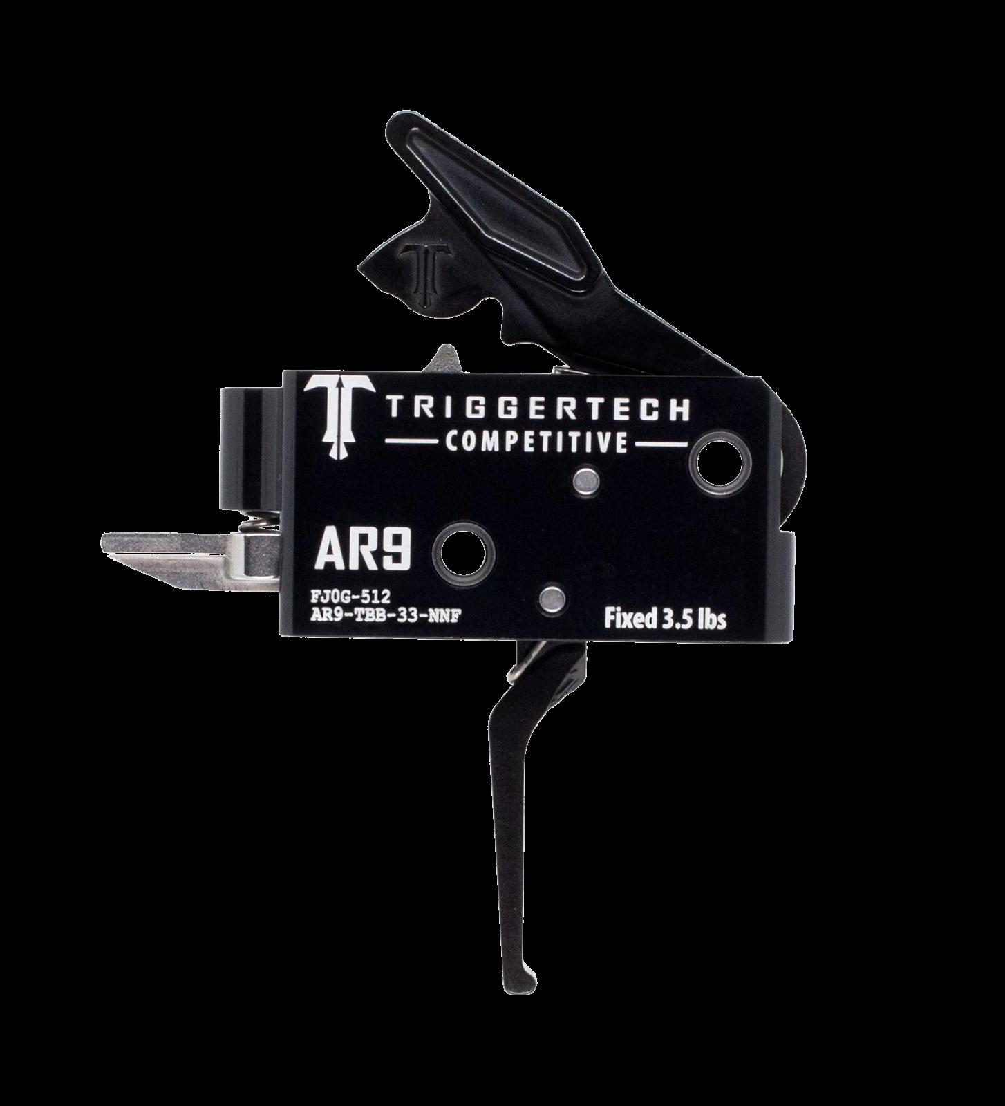 Spoušť TriggerTech AR9 Competetive - rovná, černá