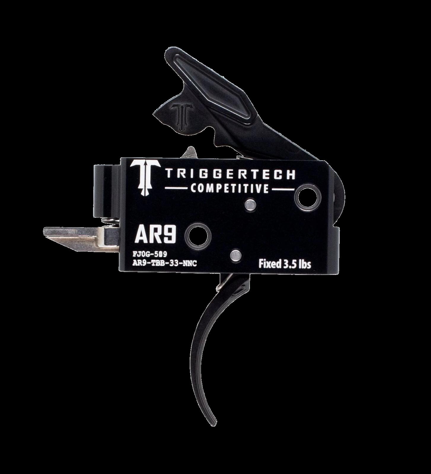 Spoušť TriggerTech AR9 Competetive - zaoblená, černá