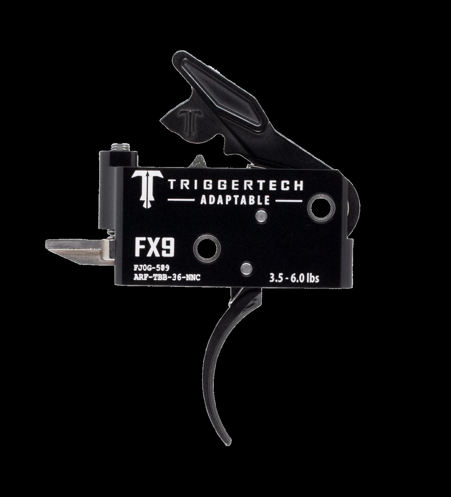 Spoušť TriggerTech FX9 Adaptable - zaoblená, černá