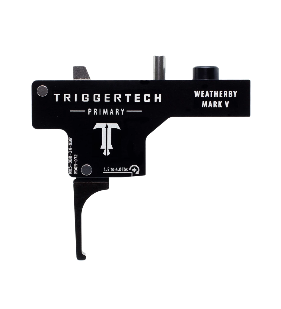 Spoušť Triggertech Primary pro Weatherby Mark V - rovná, černá