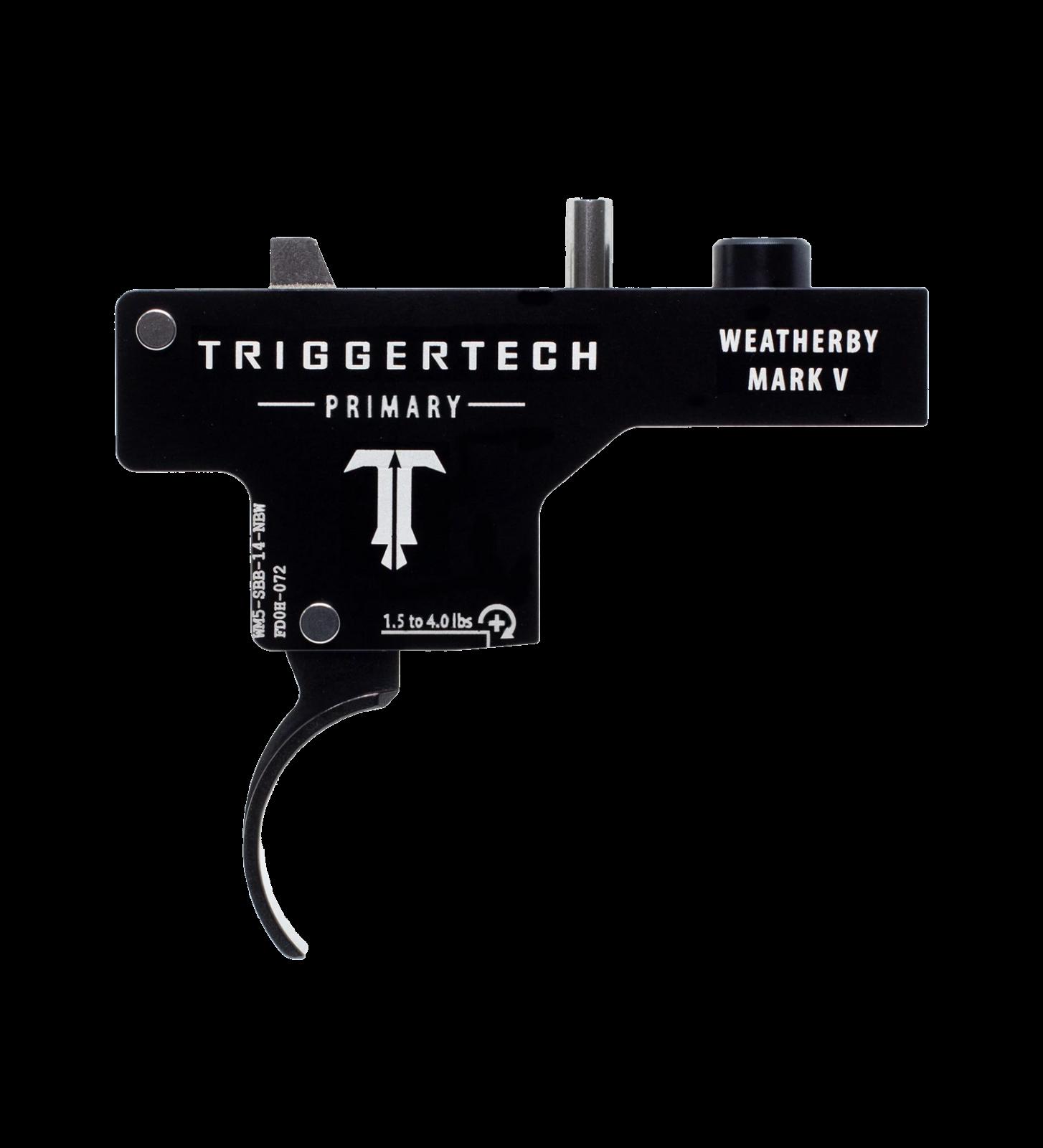 Spoušť Triggertech Primary pro Weatherby Mark V - zaoblená, černá