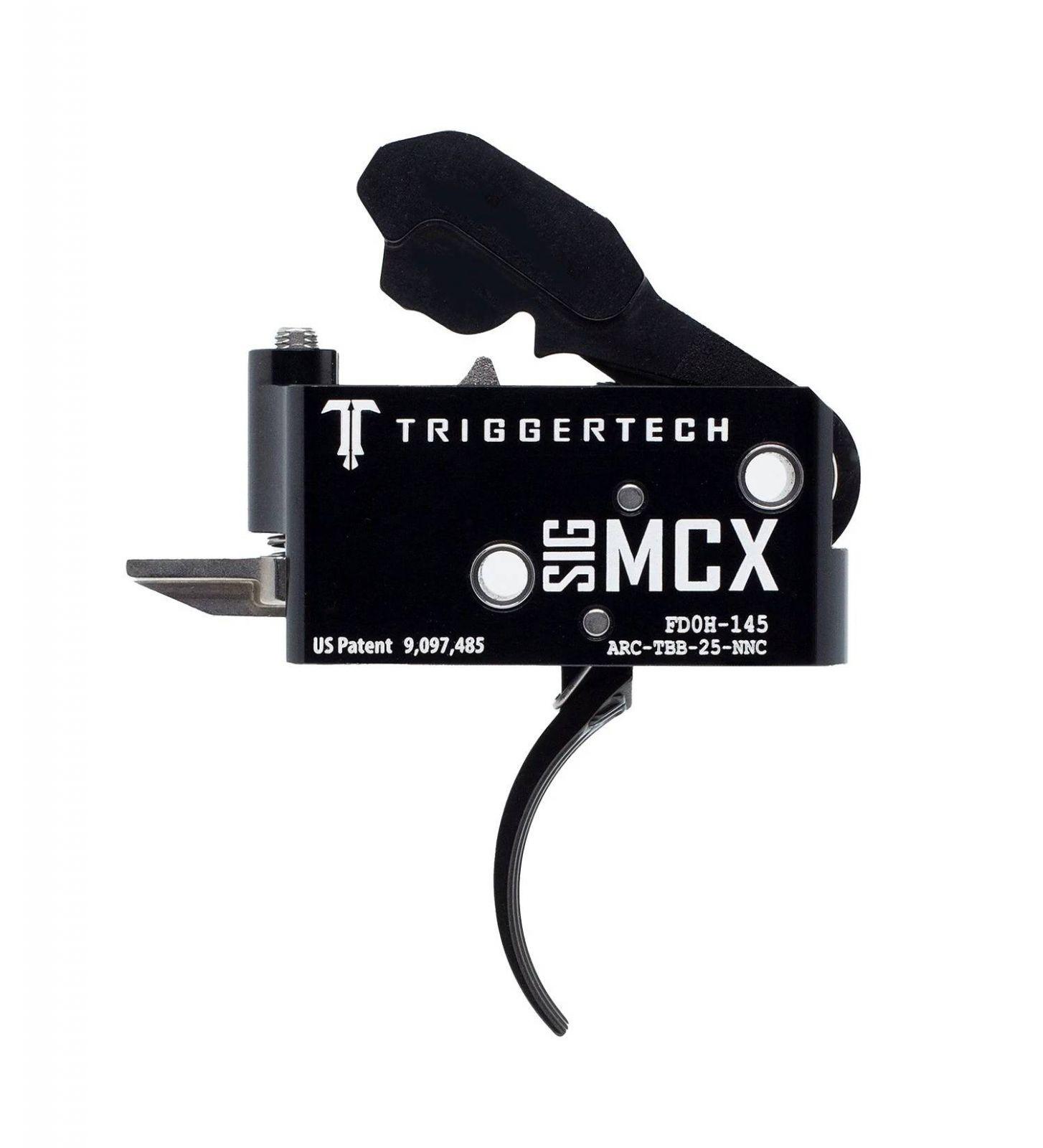 Spoušť TriggerTech SIG MCX Adaptable - zaoblená, černá