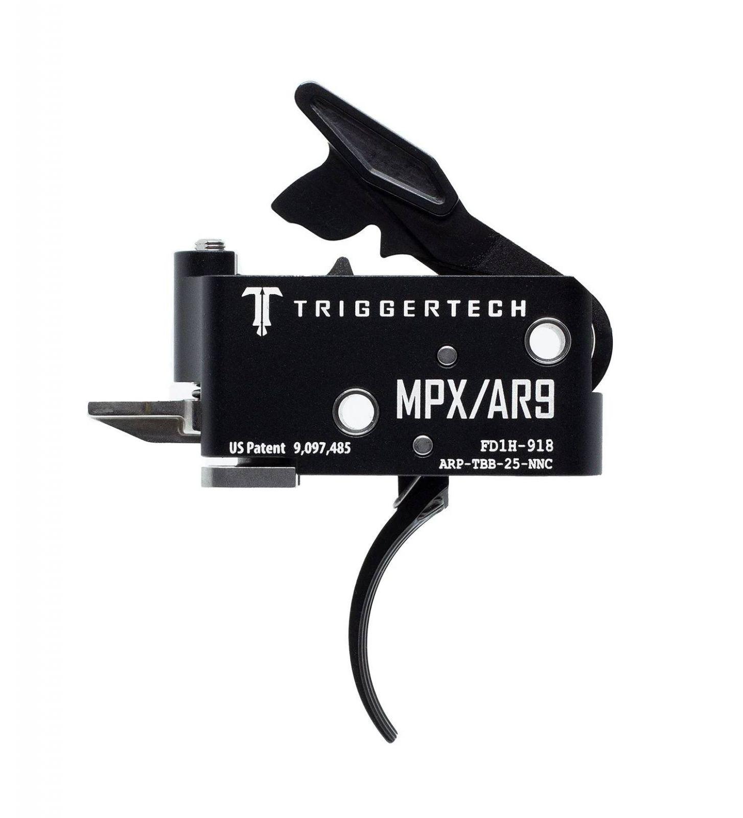 Spoušť TriggerTech SIG MPX Adaptable - zaoblená, černá
