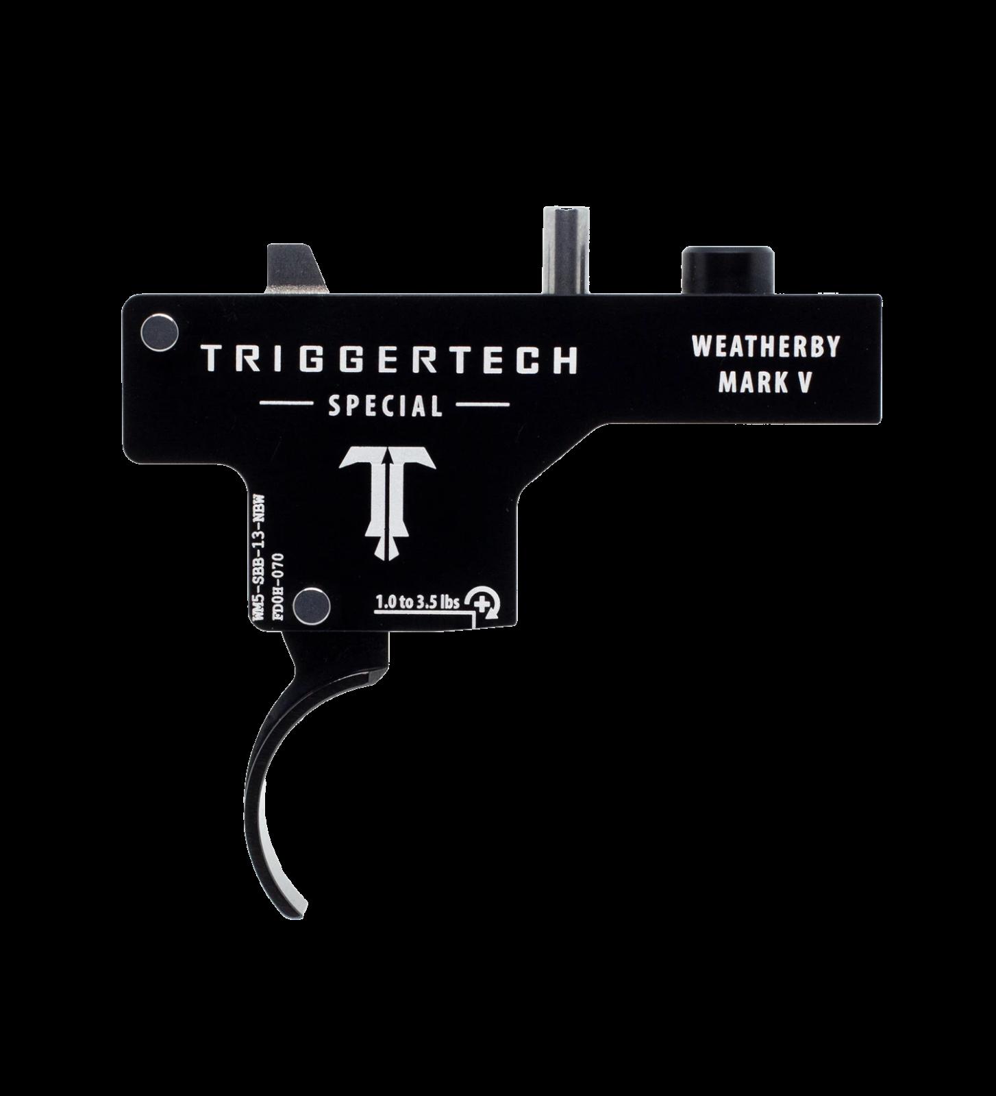 Spoušť Triggertech Special pro Weatherby Mark V - zaoblená, černá