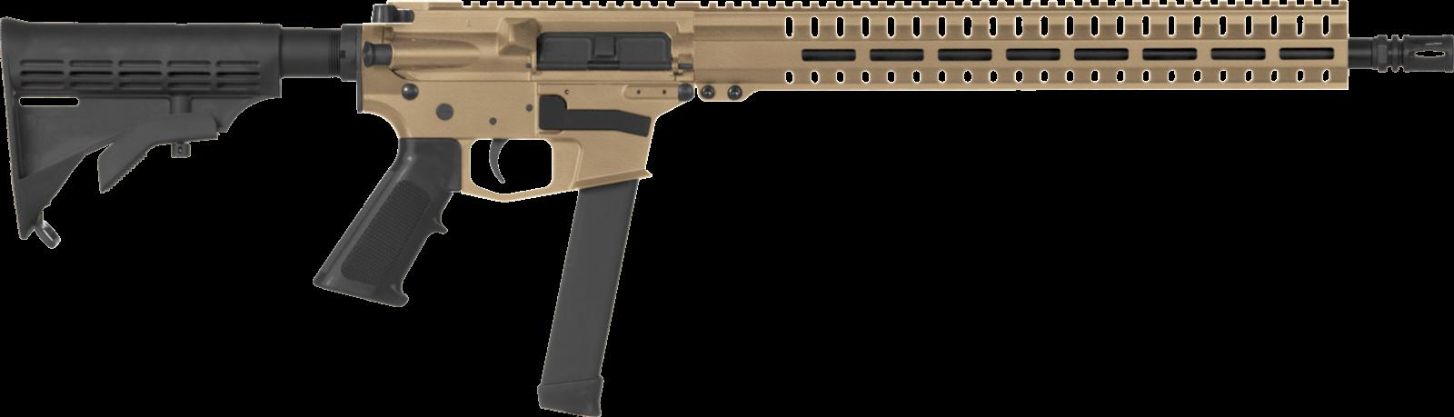 Samonabíjecí puška CMMG Resolute 100 Rifle MkGs - 9 x 19, FDE