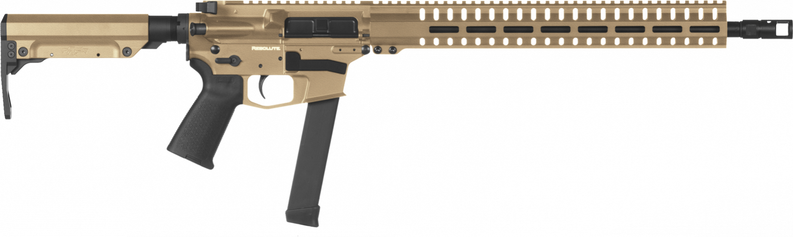 Samonabíjecí puška CMMG Resolute 300 Rifle MkGs - 9 x 19, FDE
