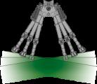 XLA bipod s kloubem