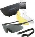 Ochranné brýle ESS ICE-3 NARO - černý rám, tři výměnná skla - čiré, kouřové, žluté