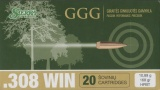 GGG náboj .308 WIN - HPBT 168grn Sierra MatchKing